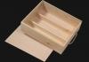 Ξυλοκιβώτια για κρασιά με συρταρωτό καπάκι 3 φιαλών Wooden-pack for wine with sliding lid