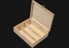 Ξυλοκιβώτιο κασετίνα 3 φιαλών Wooden-pack for wine Caskets 1 - 2 - 3 bottles
