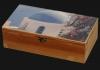 Ξυλοκιβώτιο κασετίνα με εκτύπωση Wooden-pack for wine Caskets 1 - 2 - 3 bottles